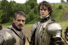 Jeremy Irons as the Earl of Leicester, Hugh Dancy as the Earl of Essex