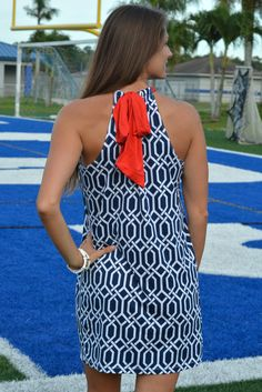 SOUTHERN BELLE Blue Red Ole Miss Gameday dress Shop Simply Me Boutique – Simply Me Boutique