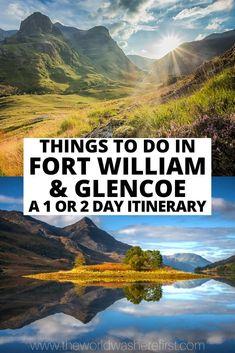Scotland Travel Guide, Scotland Road Trip, Places In Scotland, Fort William Scotland, Places To Visit Uk, Glen Nevis, Best Of Scotland, Glencoe Scotland, Thing 1