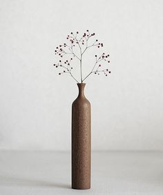Teak Dry Flower Vase | Analogue Life