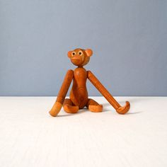 Vintage Large Zoo-Line Style Articulated Monkey by MidModMomStore