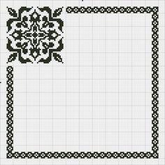 ru / Photo # 130 - b & w + Jacquard - irisha-ira Cross Stitch Boarders, Cross Stitch Pillow, Cross Stitch Charts, Cross Stitch Designs, Cross Stitch Embroidery, Cross Stitch Patterns, Crochet Chart, Filet Crochet, Crochet Patterns
