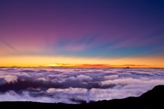 Mt. Haleakala, Maui, Hawaii - April 1999.  We watched the sunrise from from the top of the mountain, above the clouds.