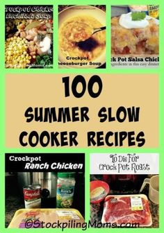 100 Summer Slow Cooker Recipes that will help you save time and money in the kitchen on dinner! Perfect for a family that is on the go.