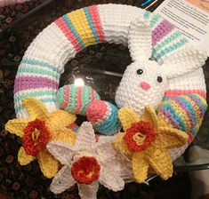 Spring Wreath PDF 14-136 ~ free pattern ᛡ