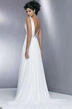 V Neck Wedding Dresses Bridal gowns V Neck Wedding Gown Vintage Style Wedding Dresses $119