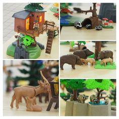 Lust auf einen Waldspaziergang?   Von unserem Playmobil Baumhaus hat man eine tolle Sicht auf alle Waldbewohner!