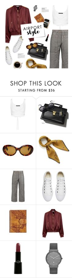 """""""Comfort comes first"""" by magdafunk ❤ liked on Polyvore featuring Alexander Wang, Acne Studios, Mulberry, Converse, McGinn, Patricia Nash, Armani Beauty, Skagen, Post-It and croptop"""