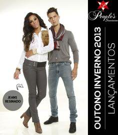 A tendência do jeans resinado está com tudo neste outono/inverno. Não deixe de conferir as peças resinadas da coleção da People's Jeans;