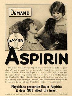1928 Ad Bayer Co. Genuine Bayer Aspirin Pain Reliever - ORIGINAL MCC2