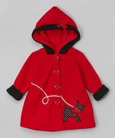 Love this Red Dog Hooded Coat - Girls on #zulily! #zulilyfinds $13.99 from 42.00