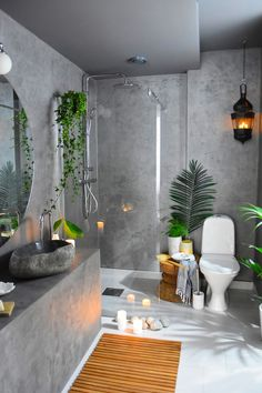 DIY Bathroom Remodeling Ideas with Before & After Picture to Inspire Scandinavian Bathroom / Home design ideas Scandinavian Bathroom, Bathroom Interior Design, Interior Decorating, Decorating Ideas, Decor Ideas, Diy Ideas, Mini Bad, Small Bathroom With Shower, Bathroom Ideas