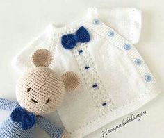 Embroidered Baby Vest Making - Knitting Baby Knitting Patterns, Crochet Baby Dress Pattern, Baby Dress Patterns, Knitting For Kids, Crochet For Kids, Knitting Designs, Knitted Baby Cardigan, Knitted Baby Clothes, Pull Bebe