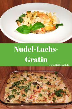 Nudel-Lachs-Gratin, Rezept, lecker und einfach, Thermomix, Food, Essen, Kochen, Hauptspeise mit Fisch, Nudeln überbacken