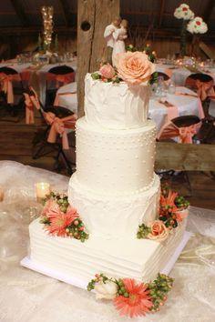 4 Tier Wedding Cake Barn Cake