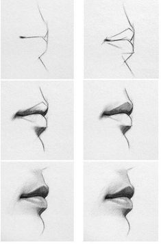 Delineate Your Lips - Lip step by step/how to. - How to draw lips correctly? The first thing to keep in mind is the shape of your lips: if they are thin or thick and if you have the M (or heart) pronounced or barely suggested. Pencil Art Drawings, Art Drawings Sketches, Realistic Drawings, Cool Drawings, Eye Drawings, How To Draw Realistic, Drawings Of Mouths, Pencil Drawings For Beginners, Hipster Drawings