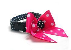 Pink and Black Dot Dog Collar
