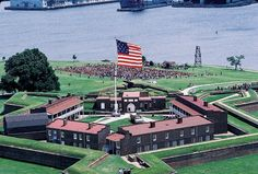 Ft McHenry National Monument and Historic Shrine, Maryland. Francis Scott Key wrote the Star Spangled Banner, while the war raged on at the fort. Baltimore Maryland, Visit Maryland, East Coast Travel, Star Spangled Banner, Old Fort, Dc Travel, Historical Sites, Day Trips, Trip Planning