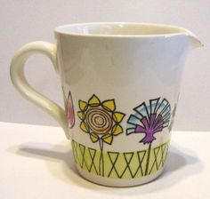 Fleur Kitchen Jug Cornishware, Scandinavian, Mugs, Tableware, Green, British, Design, Kitchen, Flowers