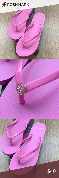 88ba0e41fe120c Tory Burch Magnolia Rose flip flop solid thin 10 New Tory Burch flip flop  size 10 NO TRADE Tory Burch Shoes Sandals