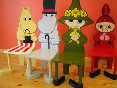 My mother is from Finland, so I grew up reading stories from Moomin Valley about critters called the Moomins and all of their friends. The Moomins are creations of author and illustrator Tove Jansson.