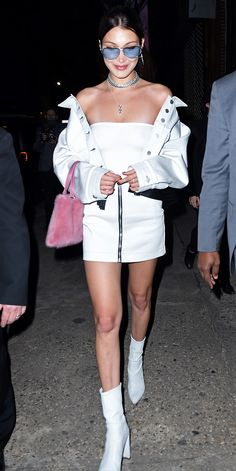 Bella Hadid's gogo boots are giving us life right now.