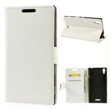 Funda Book Sony Xperia T3 Simple Magnetica Blanca S/. 40.00