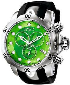 New Mens Invicta 6105 Venom Reserve Chronograph Green Dial Watch