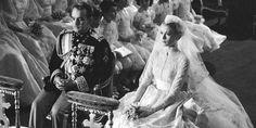 PRINCE RAINIER OF MONACO AND GRACE KELLY 1956 wedding