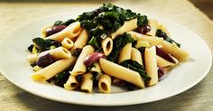 Penne with Swiss Chard, Olives, and Currants #recipe