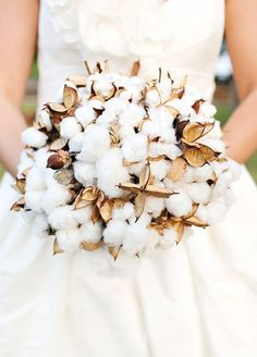A bouquet of cotton resembles light and fluffy snow making it perfect for a…