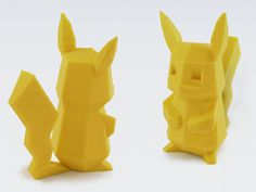 NOTE: You can check my newest designs in my YouMagine profile! More Low-Poly and other simple designs!    https://www.youmagine.com/users/flowalistik    Designing a low-poly Pokemon is the best way I found to represent the poor graphic quality the first Pokemon games had. So, here I present you the low-poly Pikachu, which is part of the Low-Poly project I'm developing.     3D printers allow to make real the idea of catching all Pokemon, and I'm currently working to make all the Pokemon I ...
