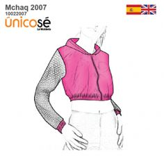 CHAQUETA CROP TOP MUJER mod='ptsblockrelatedproducts' Patterned Bomber Jacket, New Product, Crop Tops, Jackets, Fashion, Modeling, Sewing Tutorials, Zippers, Wraps