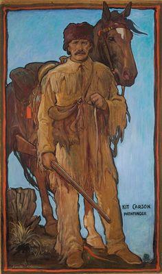 Gerald Cassidy, Kit Carson, 1922, Casein on Paper