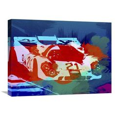 Naxart 'Porsche 917 Racing 1' Graphic Art on Wrapped Canvas Size: