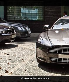 BMW 760Li, Bentley CFS and Aston Martin Rapide. The latter of which I have a soft spot for. New Delhi. (Found on Facebook, credits to Ankit Srivastava.)