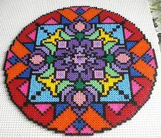 Beautiful hama perler beads mandala by  Le plaisir du point de croix