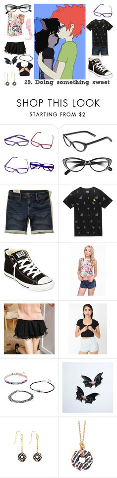 """""""29. Doing something sweet (Sheckie)"""" by brainyxbat ❤ liked on Polyvore featuring Elizabeth and James, Hollister Co., Converse, Tokyo Fashion and Dylan's Candy Bar"""