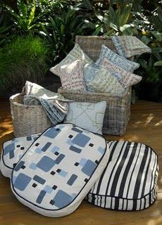 Geometric cushions and dog beds