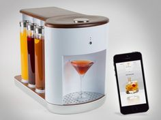 Sync this gadget to your smart phone to make craft cocktails.