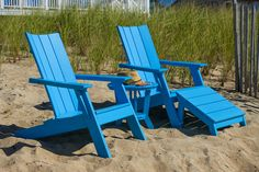 Adirondack comes in eight colors: white, natural, black, charcoal, chestnut, cherry, pool, and leaf. By Seaside Casual. Available from Rich's for the Home http://www.richshome.com/