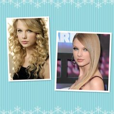 Taylor Swift No matter wavy hair or straight hair, she's always so charming. Right?