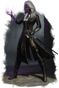 """we-are-rogue:  """"  Minaethiel Drow Warlock by Dean Spencer  @we-are-warlock  """""""