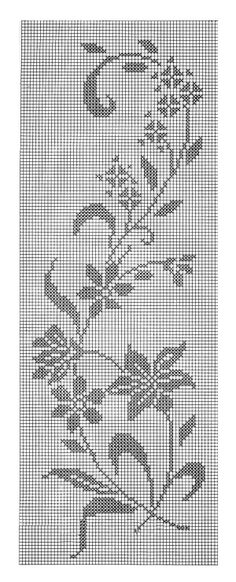 hibiscus flowers cross stitch patterngrafico de colcha renda bedspread from graphic layout lace - PIPicStats Cross Stitch Borders, Cross Stitch Flowers, Cross Stitch Designs, Cross Stitching, Cross Stitch Patterns, Crochet Curtains, Crochet Tablecloth, Tapestry Crochet, Crochet Doilies