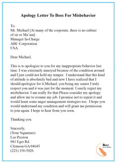 Apology Letter Template to Boss/ Manager – Sample & Examples Persuasive Writing Examples, Essay Writing Skills, Business Letter Template, Letter Templates Free, Email Writing, Business Writing, Letter Of Absence, Informal Letter Writing, Letter To Boss