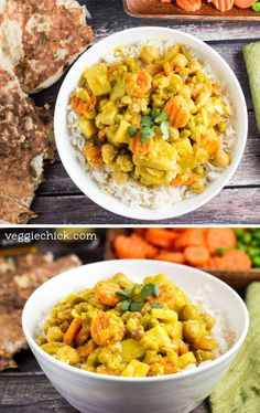 Slow Cooker Yellow Curry via veggiechick.com #vegan