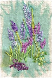 Lavender Textile Mini Embroidery Project 1212