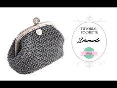 "Tutorial uncinetto pochette ""Greece"" | Punto fantasia | How to make a crochet bag || Katy Handmade - YouTube"