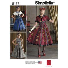 Simplicity Misses' Costumes 8187