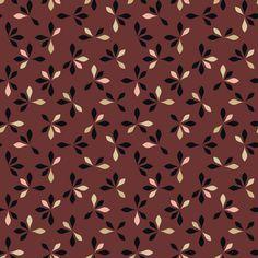 loves me loves me not - oxblood fabric by ravynka on Spoonflower - custom fabric